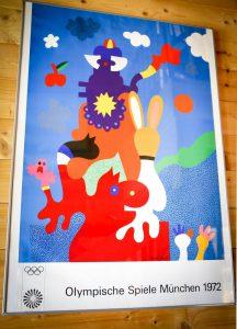 Plakat zu den Olympischen Spielen 1972 in München von Otmar Alt