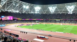 WM-Abendveranstaltung im ausverkauften Olympiastadion von London